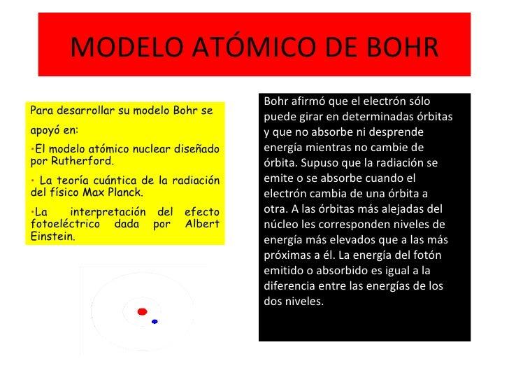 MODELO ATÓMICO DE BOHR <ul><li>Bohr afirmó que el electrón sólo </li></ul><ul><li>puede girar en determinadas órbitas </li...