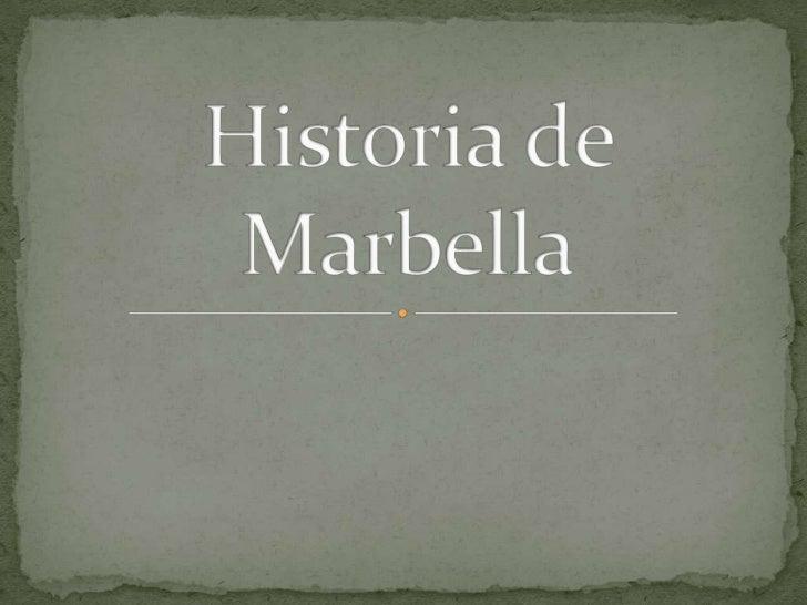 Historia de Marbella<br />