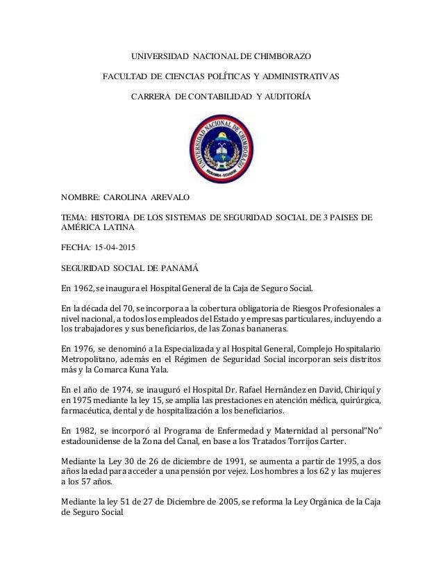 UNIVERSIDAD NACIONAL DE CHIMBORAZO FACULTAD DE CIENCIAS POLÍTICAS Y ADMINISTRATIVAS CARRERA DE CONTABILIDAD Y AUDITORÍA NO...