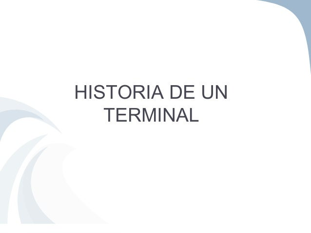 HISTORIA DE UN TERMINAL