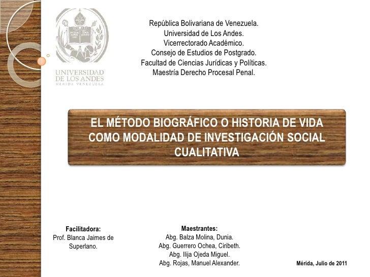 República Bolivariana de Venezuela.                                Universidad de Los Andes.                              ...