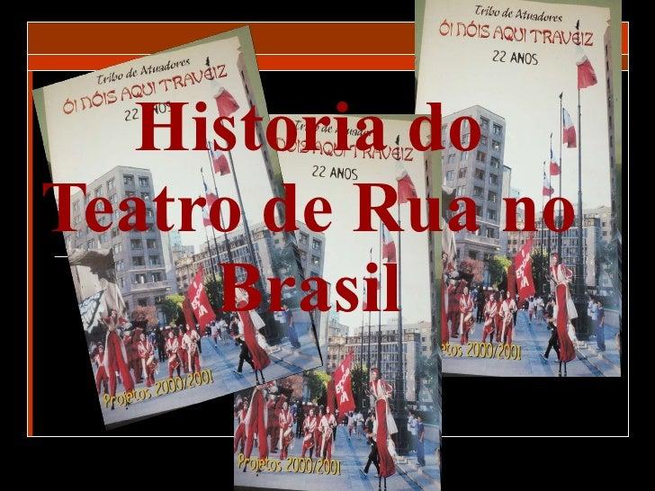 Historia do Teatro de Rua no Brasil