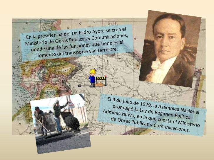 En la presidencia del Dr. Isidro Ayora se crea el Ministerio de Obras Públicas y Comunicaciones, donde una de las funcione...