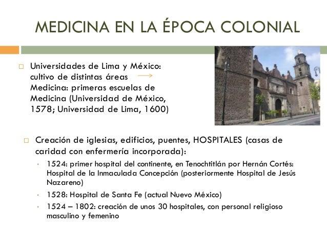 Historia de la enfermer a en am rica for Casas de la epoca actual
