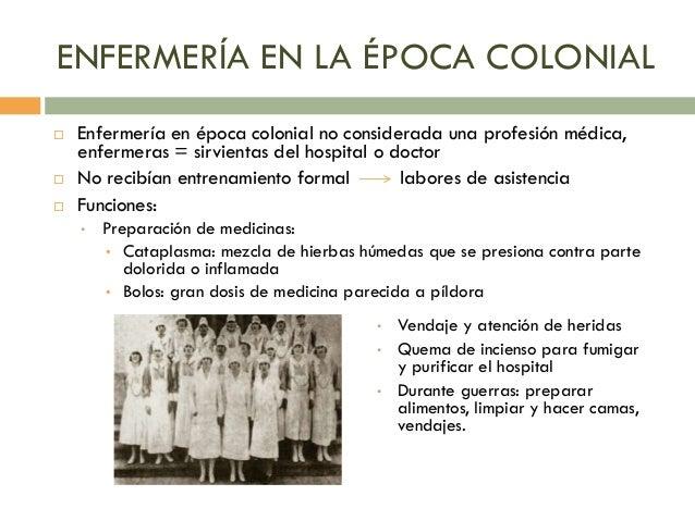 Historia de la enfermer a en am rica for Combinaciones y dosis en la preparacion de la medicina natural