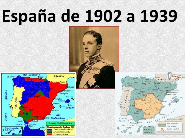 España de 1902 a 1939