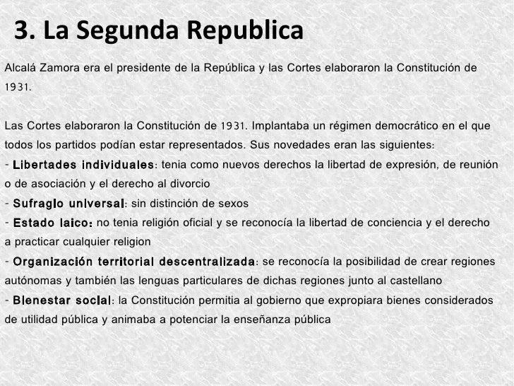 4. El Bienio ReformistaLas reformasEntre 1931 y 1933 Azaña fue presidente del gobierno y puso en marcha diversas reformas:...
