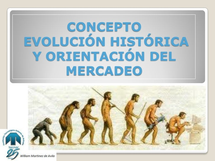CONCEPTOEVOLUCIÓN HISTÓRICA Y ORIENTACIÓN DEL     MERCADEO