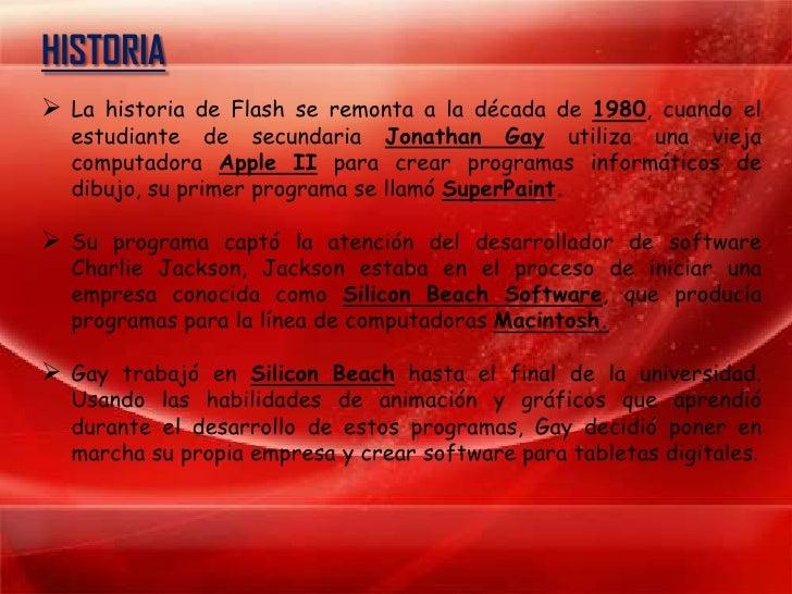 Historia de Adobe Flash Slide 3
