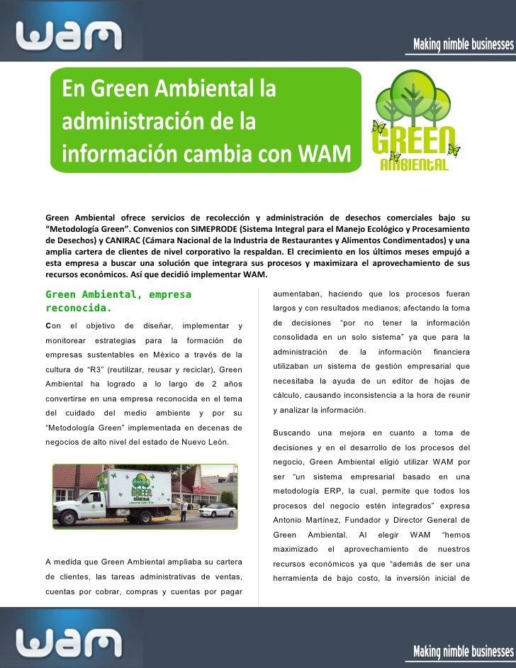 """Green Ambiental ofrece servicios de recolección y administración de desechos comerciales bajo su""""Metodología Green"""". Conve..."""