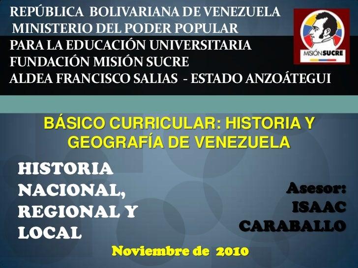 REPÚBLICA  BOLIVARIANA DE VENEZUELAMinisterio del Poder Popular Para la Educación Universitaria Fundación Misión Sucre ALD...