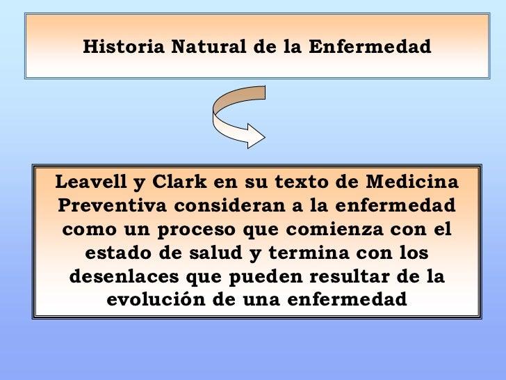 Niveles de prevencion de leavell y clark