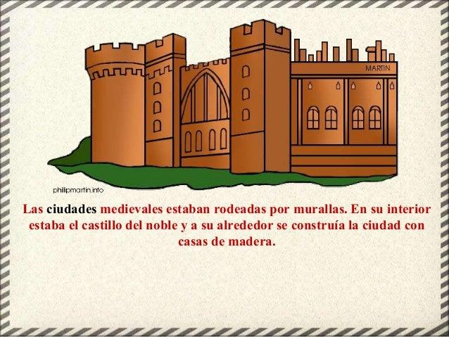 Las ciudades medievales estaban rodeadas por murallas. En su interior estaba el castillo del noble y a su alrededor se con...