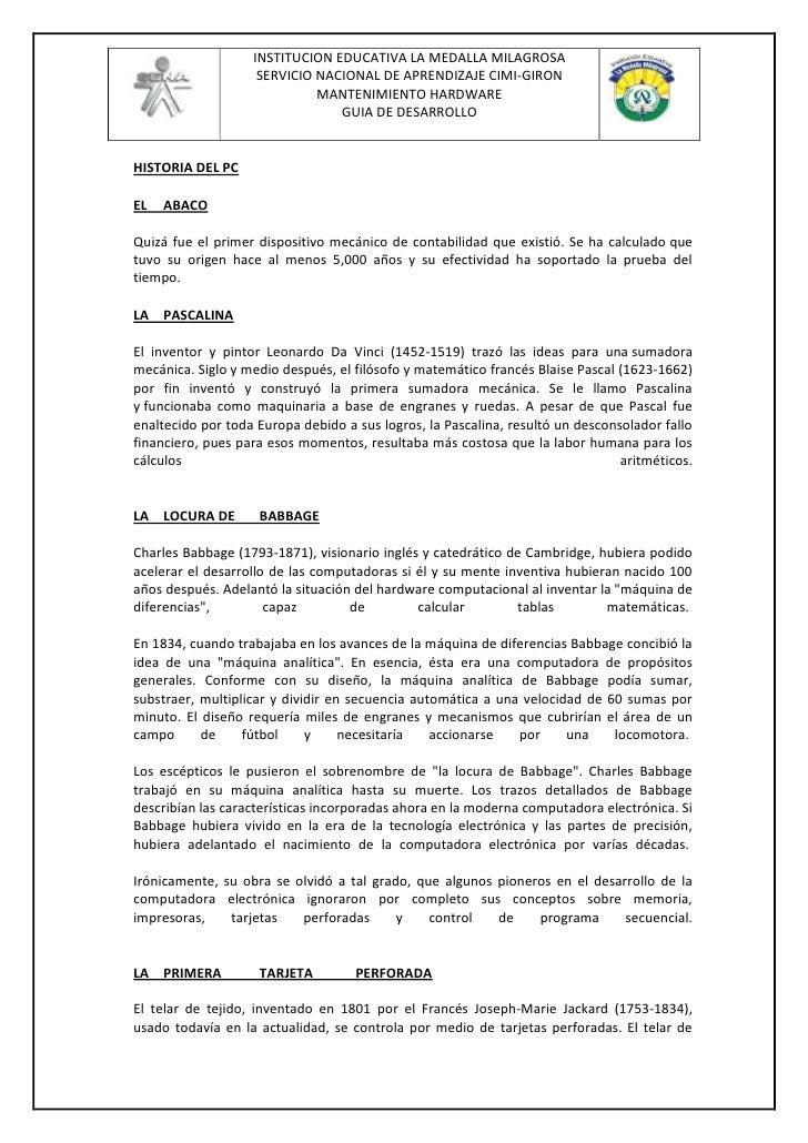 HISTORIA DEL PC<br />ELABACOQuizá fue el primer dispositivo mecánico de contabilidad que existió. Se ha calculadoque tuvo...
