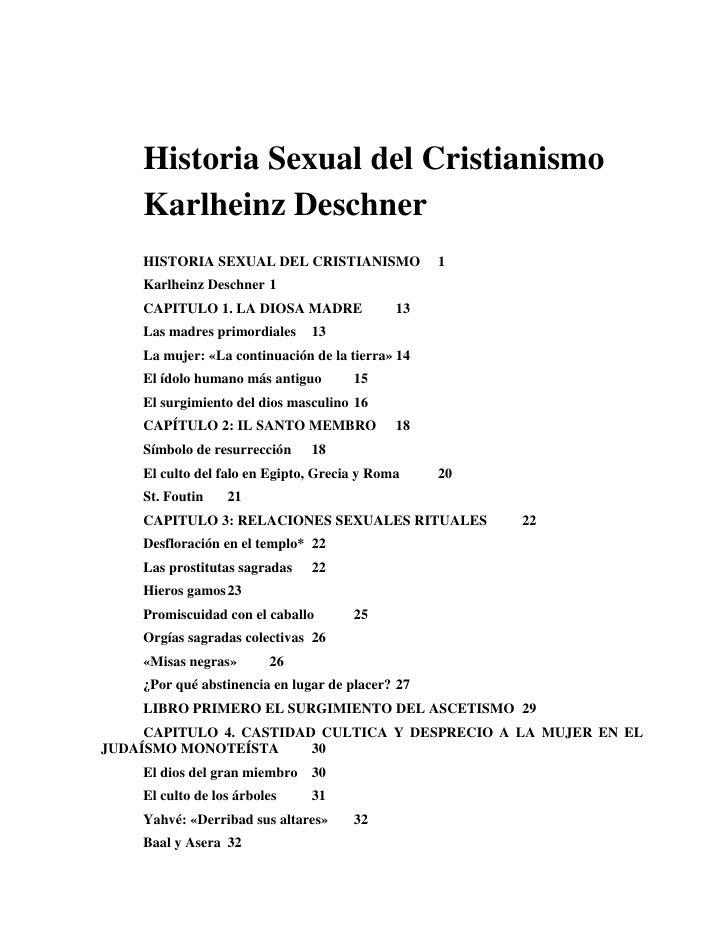 Historia Sexual del Cristianismo    Karlheinz Deschner    HISTORIA SEXUAL DEL CRISTIANISMO              1    Karlheinz Des...