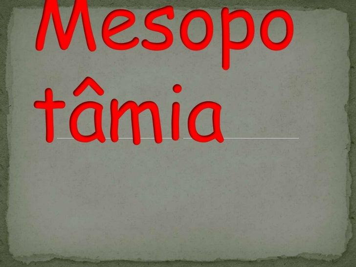 Mesopotâmia<br />