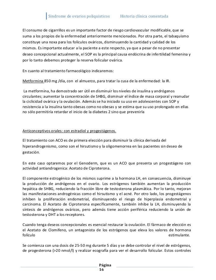 Sindrome de ovarios poliquisticos         Historia clínica comentadaEl consumo de cigarrillos es un importante factor de r...
