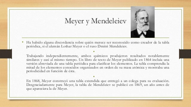 Historia de tabla peridica meyer y mendeleiev urtaz Image collections