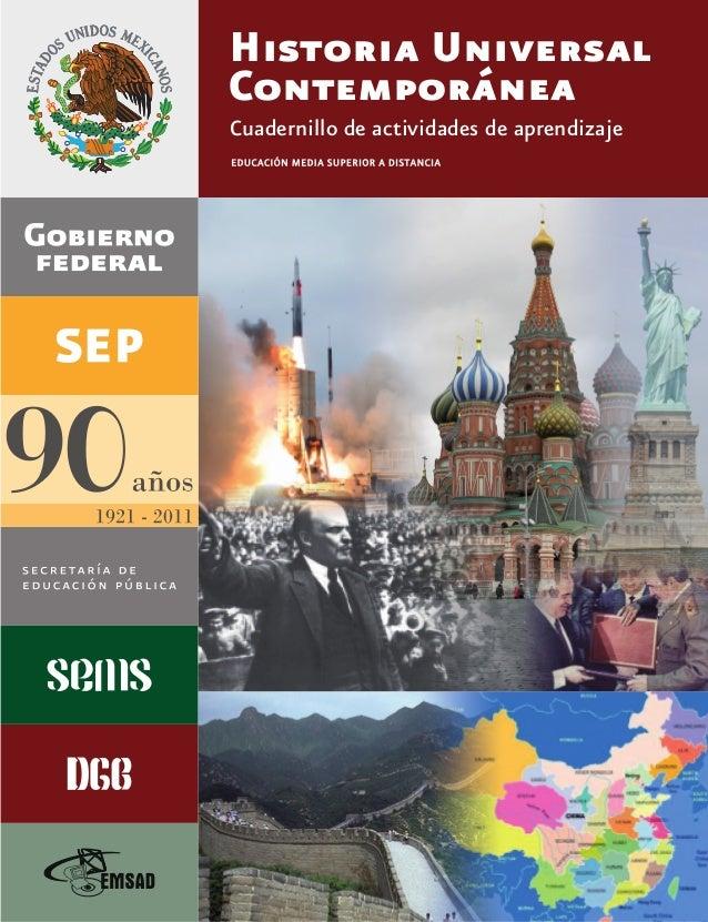 Historia Universal Contemporánea Cuadernillo de actividades de aprendizaje