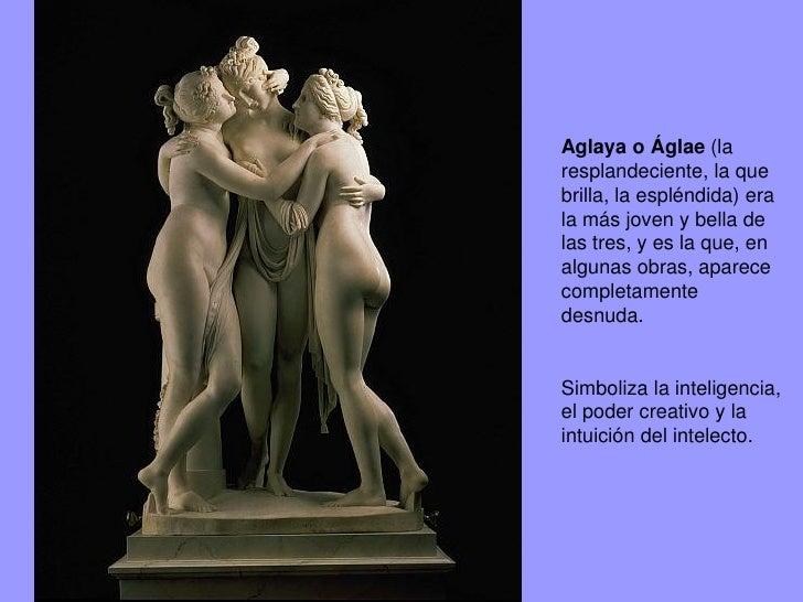 Las tres gracias, Lienzo Burne Jones(1833-1898). Se creía que también tenían la capacidad de dotar a los hombres del genio...