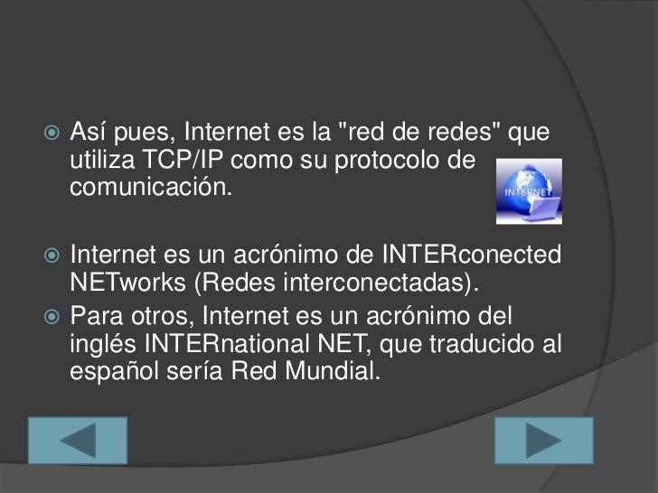 Historia y evolución de la internet Slide 3
