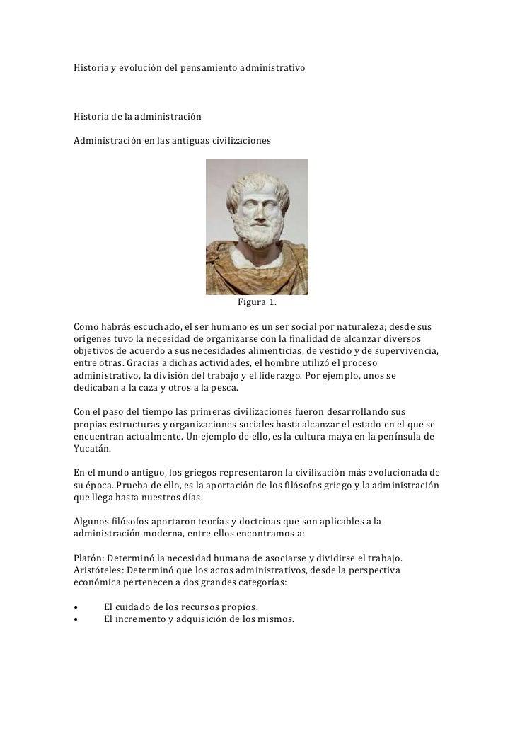 Historia y evolución del pensamiento administrativoHistoria de la administraciónAdministración en las antiguas civilizacio...