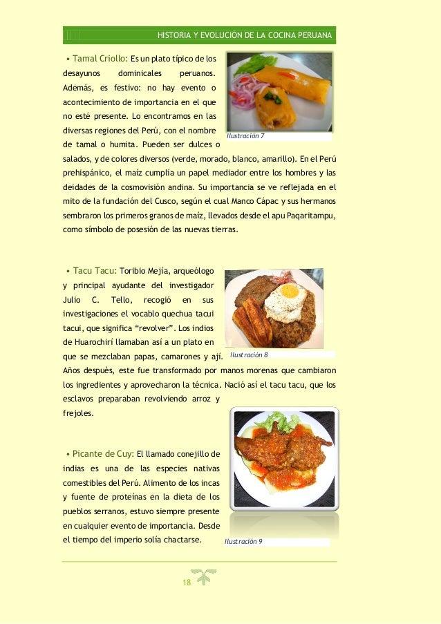 Historia y evolucion de la cocina peruana for Programa de cocina de la 1