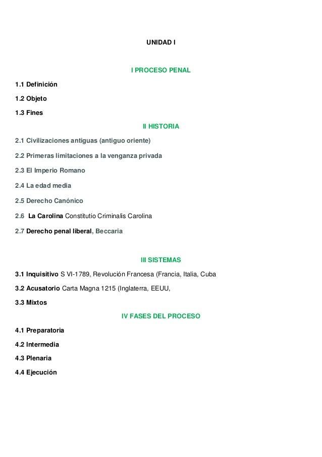 UNIDAD I                                       I PROCESO PENAL1.1 Definición1.2 Objeto1.3 Fines                           ...