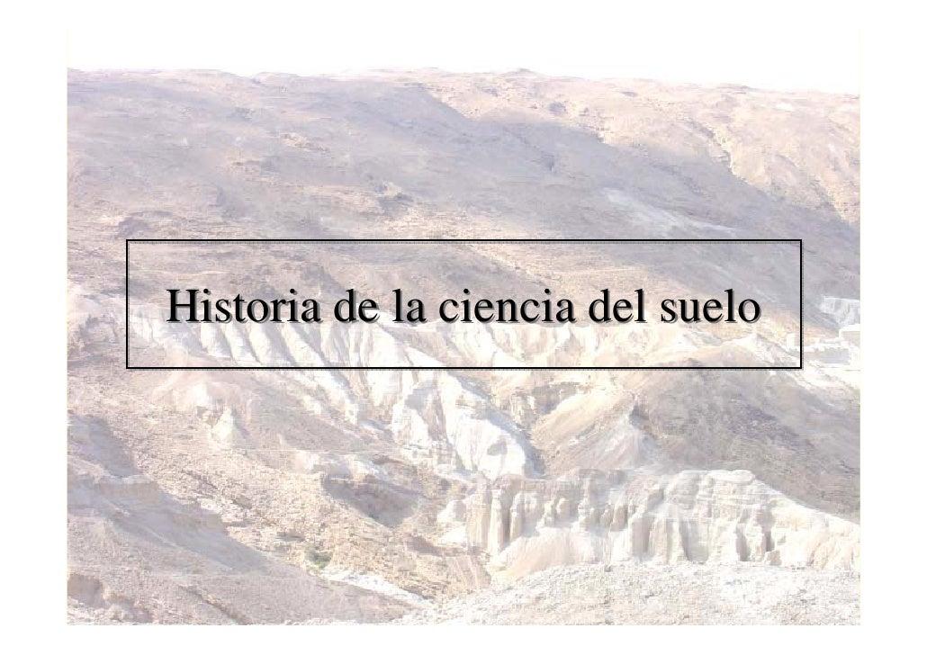 Historia de la ciencia del suelo