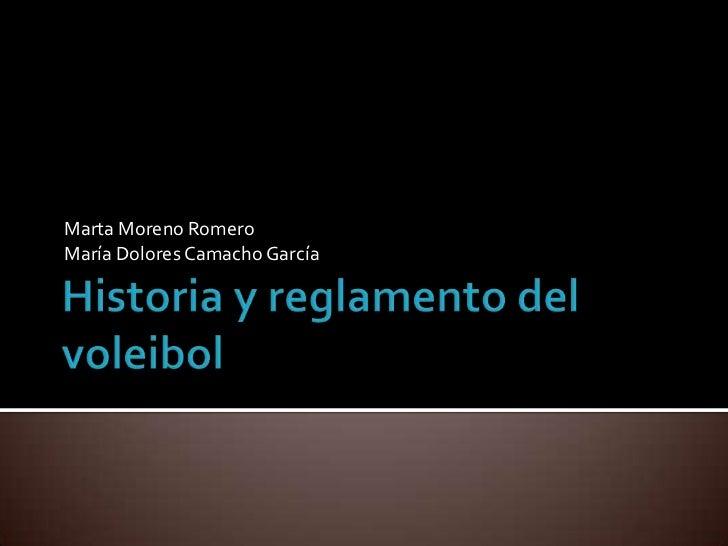 Marta Moreno RomeroMaría Dolores Camacho García