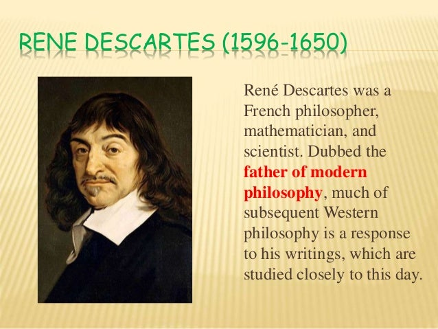 rene descartes and john locke philosophy essay Rene descartes was born on where he studied a wide variety of subjects such as aristotelian philosophy and writings of descartes) john locke.