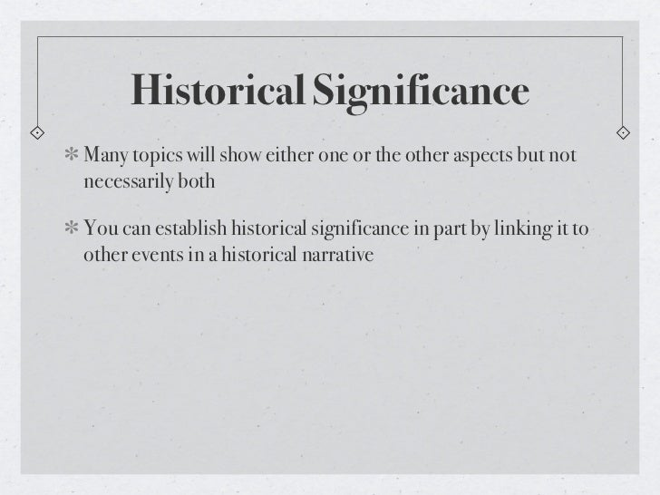 historical significance Persons of national historic significance (national historic persons) are people designated by the canadian government as being nationally significant in the history.