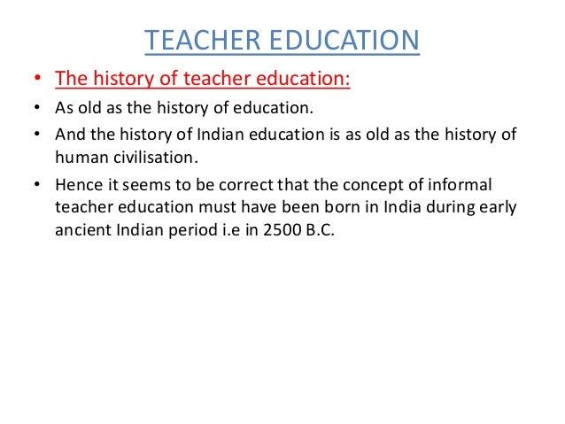 Historical development of teacher education