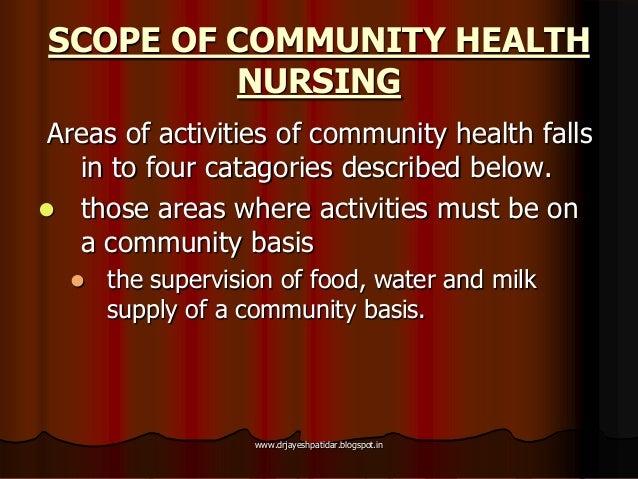 scope of community mental health nursing