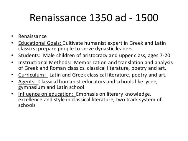 education during the renaissance essay Read this full essay on the impact of education on the renaissance the  gigantic effect that education had on renaissance society was greatly stimulated  by.