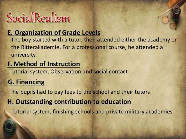 contribution of realism to education