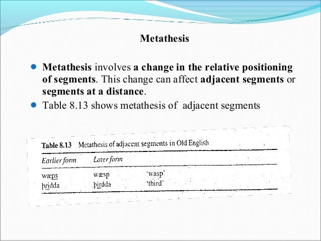 pronunciation of metathesis The metathetic pronunciation of comfortable sound like comf-ter-ble, which seems superficially incorrect, but in fact, is acceptable in american english.