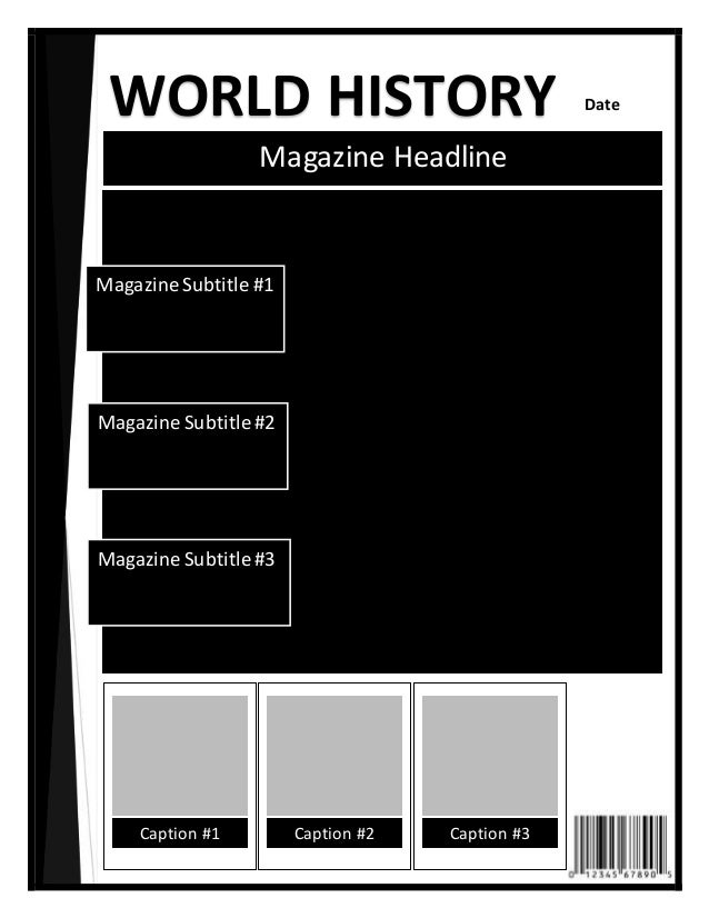 Historical magazine cover template