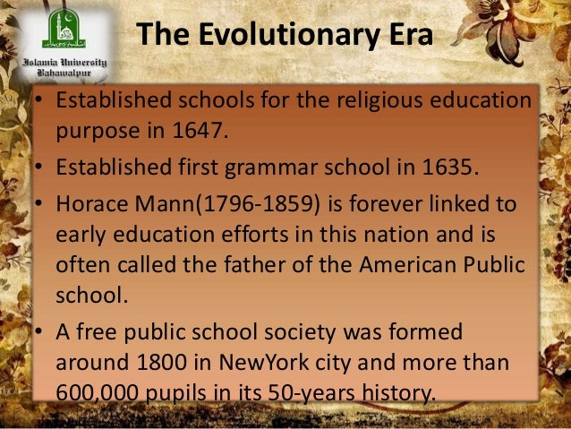 an overview of horace mann the father of the american school system This free synopsis covers all the crucial plot points of warriors don't cry  african-american students  go back to horace mann, her old high school,.