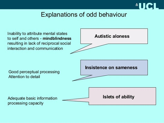 autism essay mind mindblindness theory We ascribe mental states to people: states such as thoughts, desires, knowledge, and intentionsbuilding on many years of research, baron-cohen concludes that children with autism, suffer from mindblindness as a result of a selective impairment in mindreading.