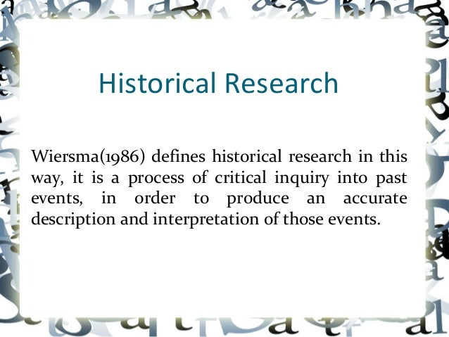 historical research 2 essay