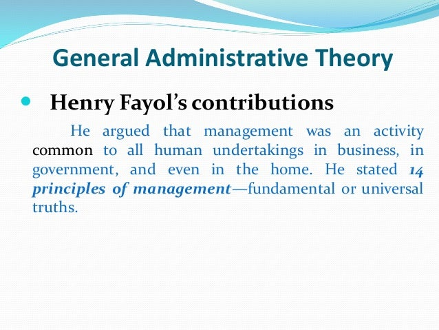 contributions of henry fayol The contribution of henry fayol to modern management  fayolism is one of the first comprehensive statement of a general theory of management, developed by the french management theorist henri fayol (1841–1925): one of the.