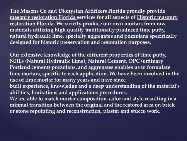 HISTORIC FOUNTAIN AND MASONRY RESTORATION FLORIDA 816-500-4198 Slide 2