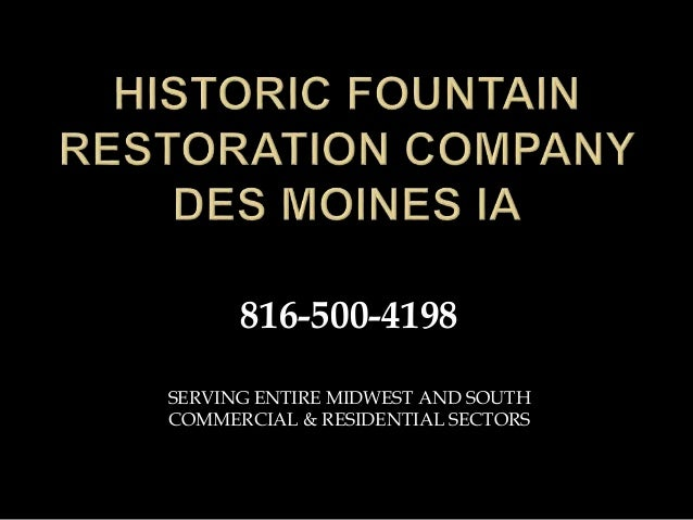 SERVING ENTIRE MIDWEST AND SOUTH COMMERCIAL & RESIDENTIAL SECTORS 816-500-4198