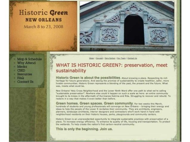 Historic Green Website Slide 2