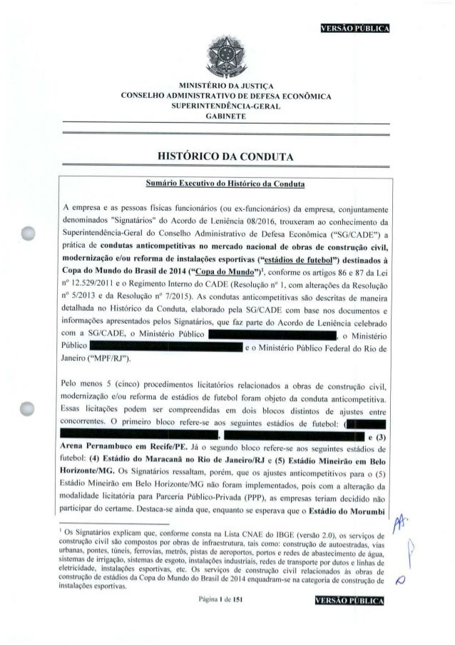 nHEEBHniHS MINISTÉRIO DA JUSTIÇA CONSELHO ADMINISTRATIVO DE DEFESA ECONÔMICA SUPERINTENDÊNCIA-GERAL GABINETE HISTÓRICO DA ...