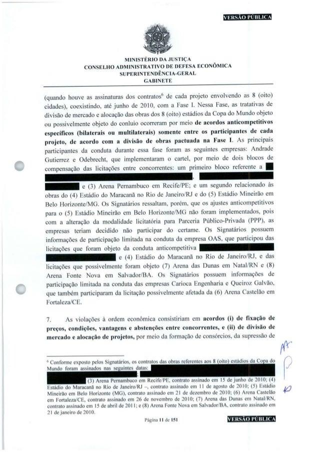 VERSÃO PUBLICA MINISTÉRIO DA JUSTIÇA CONSELHO ADMINISTRATIVO DE DEFESA ECONÔMICA SUPERINTENDÊNCIA-GERAL GABINETE (quando h...