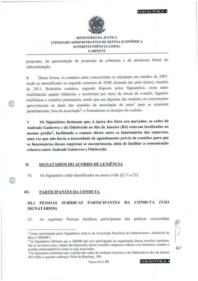 VERSÃO PÚBLICA MINISTÉRIO DA JUSTIÇA CONSELHO ADMINISTRATIVO DE DEFESA ECONÔMICA SUPERINTENDÊNCIA-GERAL GABINETE propostas...