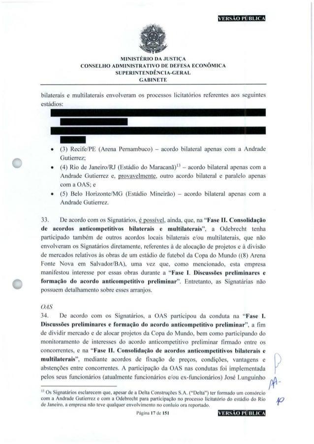 VERSÃO PUBLICA MINISTÉRIO DA JUSTIÇA CONSELHO ADMINISTRATIVO DE DEFESA ECONÔMICA SUFERINTENDÊNCIA-GERAL GABINETE bilaterai...