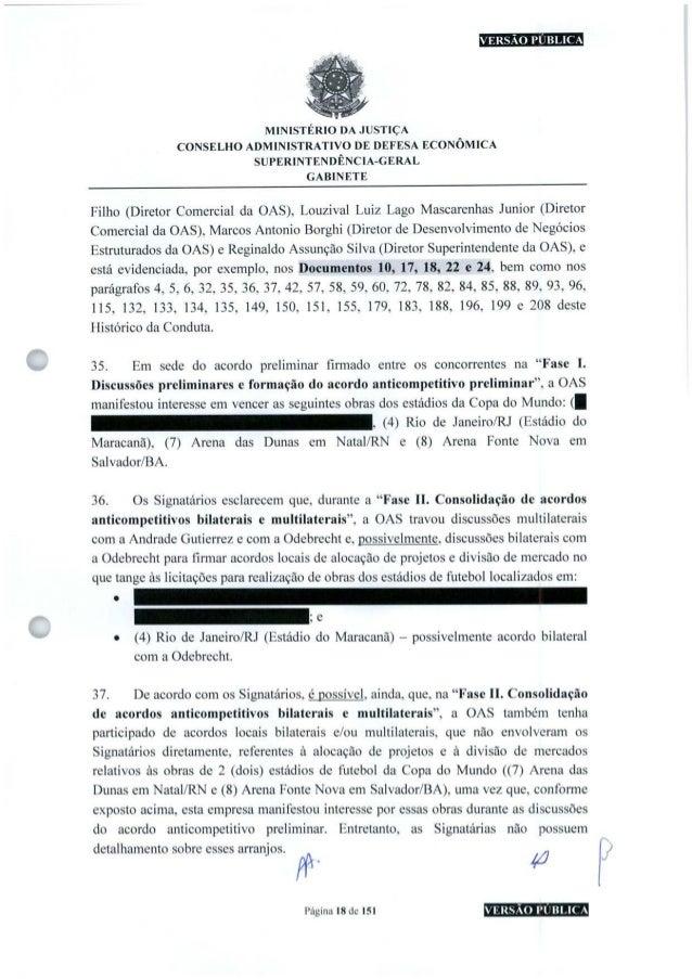 VERSÃO PUBLICA MINISTÉRIO DA JUSTIÇA CONSELHO ADMINISTRATIVO DE DEFESA ECONÔMICA SUPERINTENDÊNCIA-GERAL GABINETE Filho (Di...